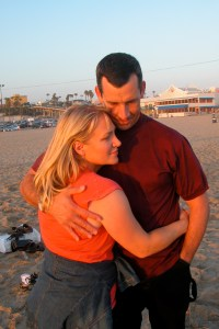 Robert and I on the beach in CA before we moved to Sequim, WA.