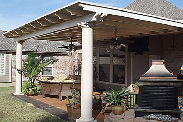patio cover allows you to enjoy nature