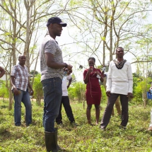 Students going through field training in our Moringa Academy