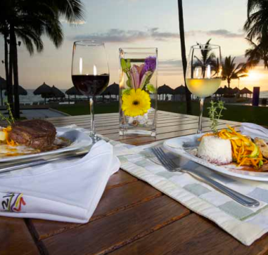 Delicious food! Inizio Restaurant in Club Regina Puerto Vallarta