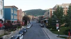 Beautiful Main Street in Park City, Utah.