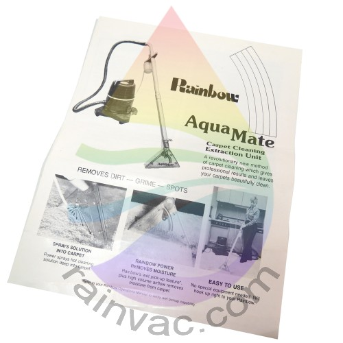rainbow vacuum carpet cleaner instructions creativeadvertisingblog com rh creativeadvertisingblog com Rainbow Aquamate 2-Handle Attachment Rainbow Aquamate 3 Shampooer