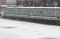 Snowy canal scene