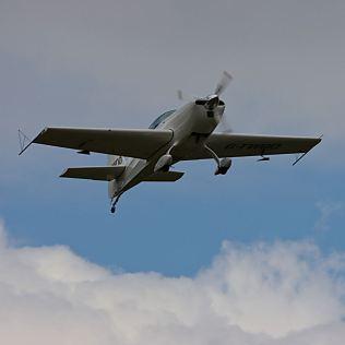 Over Barton airfield