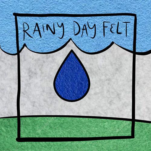 Logo concept design using felt for fill colors