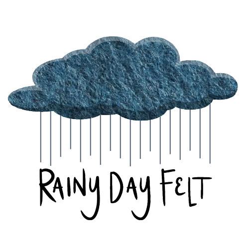 Digital concept art featuring a felt cloud with rain