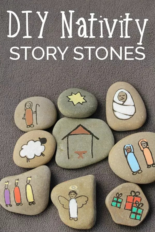 Pin Image of Nativity Story Stones you can make for kids