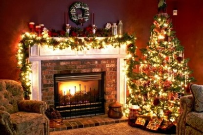 Irbob Sevenfold Christmas Tree And Fireplace Wallpaper - Best Template Collection