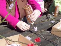 Blossoms stick w/glue