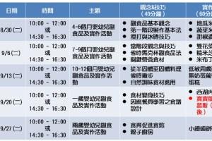 【講座】台北萬華親子館。嬰幼兒副食品及實作活動