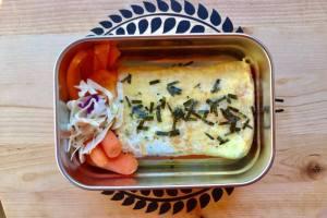 【便當日記】#86、87玉子燒鍋煎蛋包飯Bento #86,87 Omelette Rice in Japanese Omelette Pan