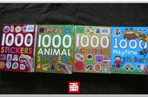 【1000 STICKERS貼紙書】最新藍本1000 Playtime Stickers無框更自由!