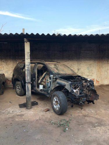 Polícia Civil de Goiás dá apoio à PCDF em megaoperação de desmanche de veículos