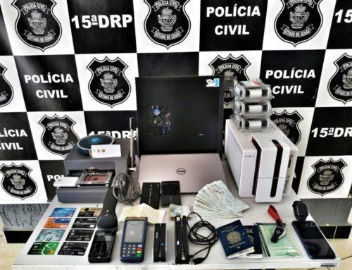 Operação Ostentação prende uma pessoa em Goianésia; golpista fabricava cartões e revendia produtos falsificados
