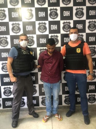 DIH prende suspeito de homicídio; autor é ligado a facção criminosa