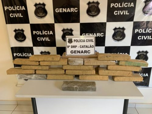 Polícia Civil apreende 15 kg de maconha e prende dois em flagrante em Catalão