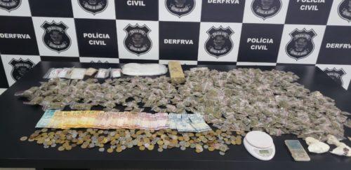 Polícia Civil prende casal que escondia droga no quintal