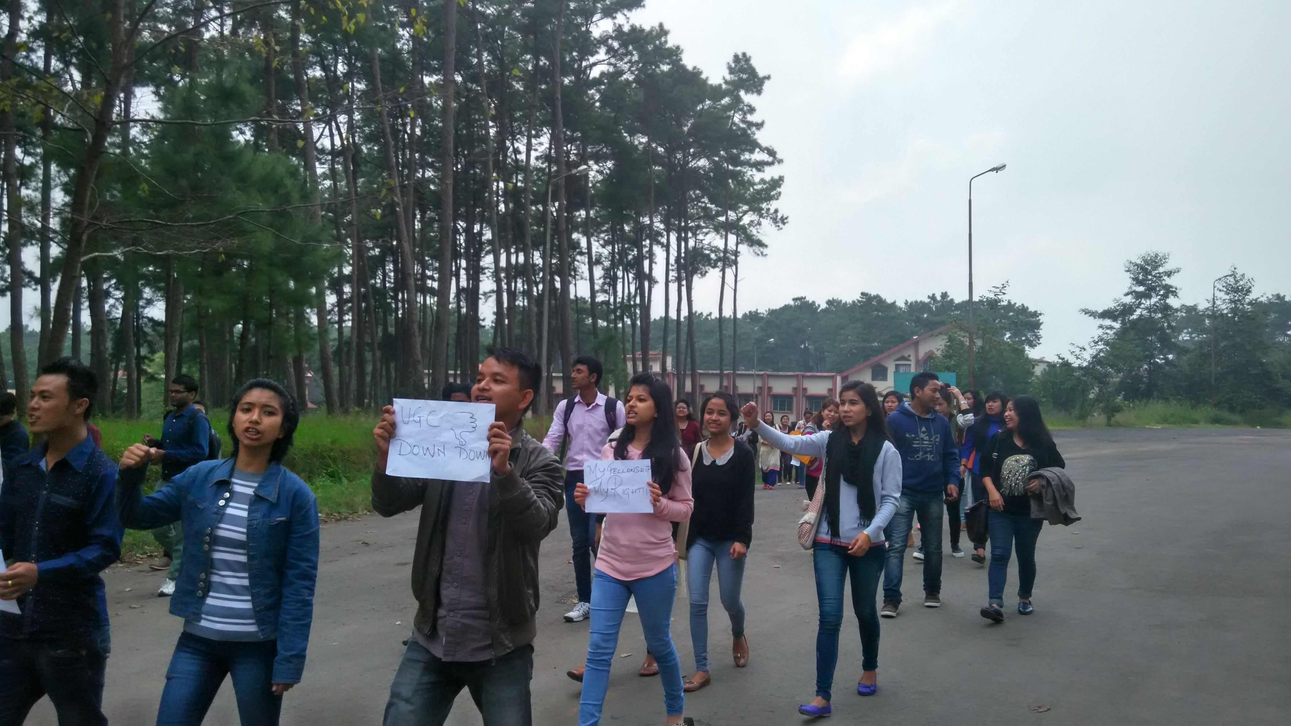 #OccupyUGC protests in NEHU, Shillong