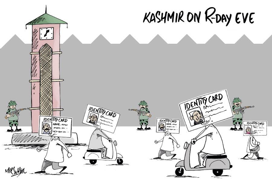 Kashmir on Indian Republic day eve