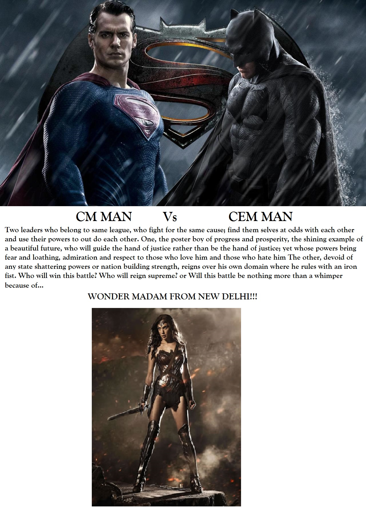 cm MAN VS cem MAN