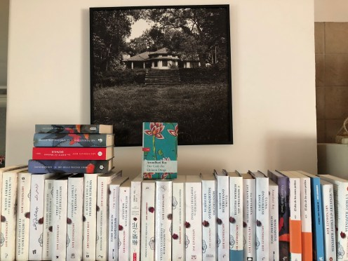 Part of the author's bookshelf of translations - Photo by Mayank Austin Soofi