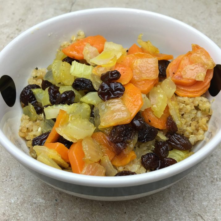 Sweet Vegetables & Quinoa by The Allergy Chef