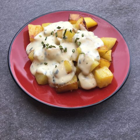 Vegan Cheesy Potatoes by The Allergy Chef