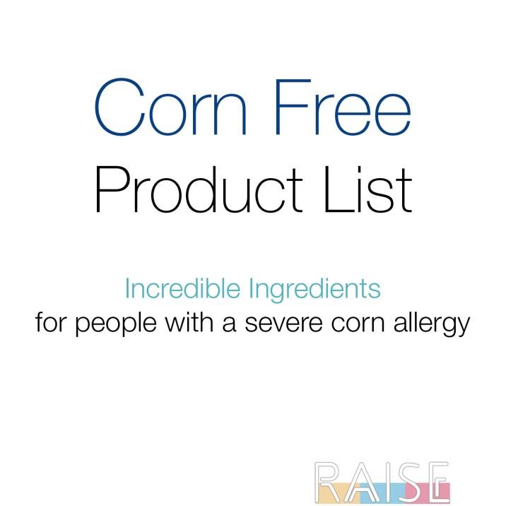 Corn Free Product List