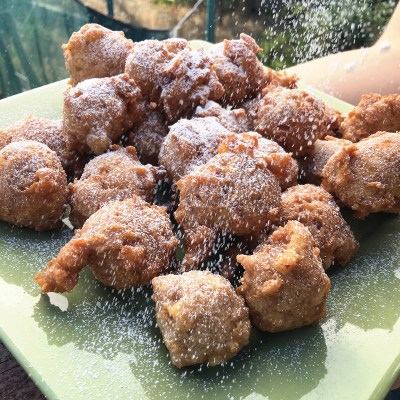 Gluten Free Apple Pie Fritters by The Allergy Chef
