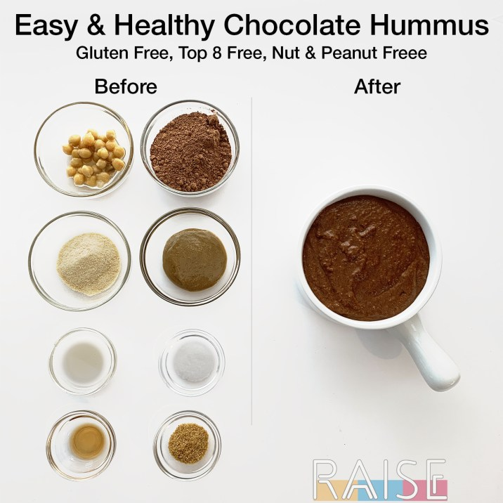 Vegan Chocolate Hummus Ingredients by The Allergy Chef