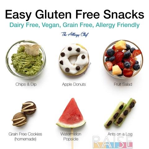 Easy Gluten Free, Vegan, Grain Free, Top 8 Allergy Free, Corn Free Snacks