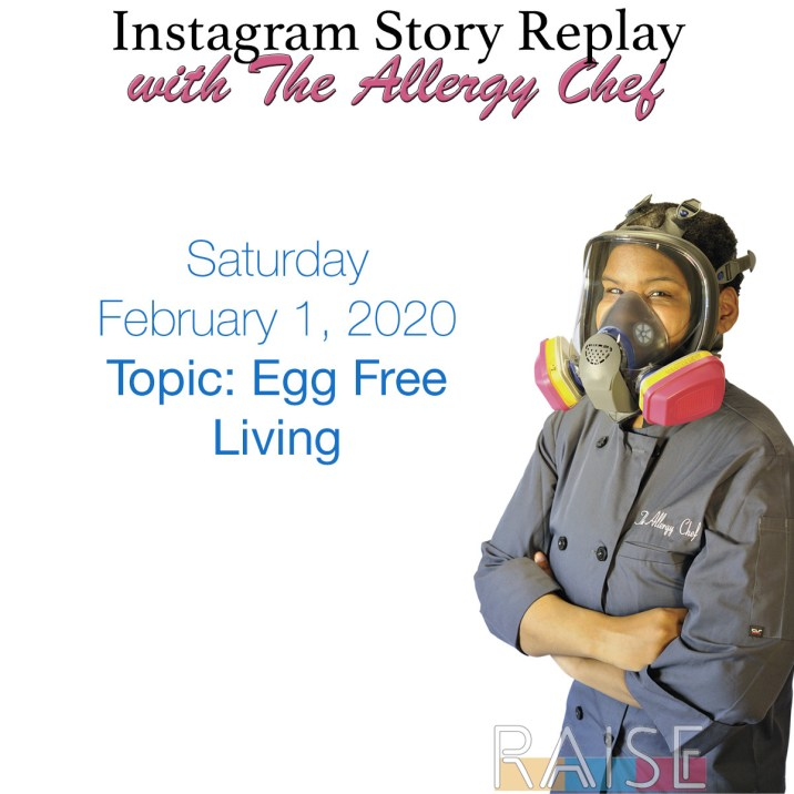 Talking About Egg Free Living with The Allergy Chef
