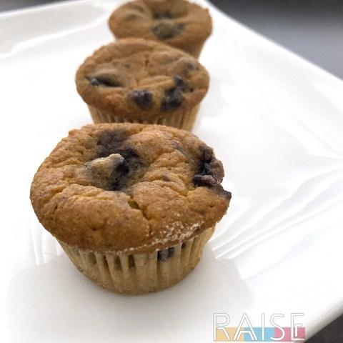 Gluten Free, Top 8 Free, Vegan Pumpkin Blueberry Muffins by The Allergy Chef