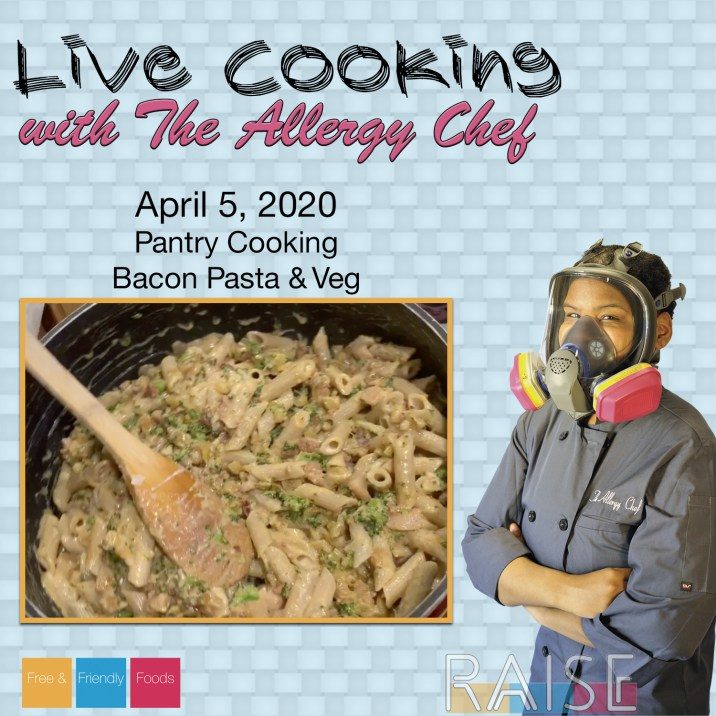 Live Cooking with The Allergy Chef Bacon Pasta