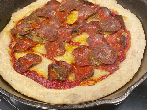 Gluten Free Cast Iron Pizza by The Allergy Chef