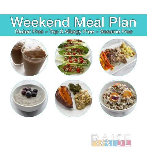Weekend Meal Plan Cover by The Allergy Chef