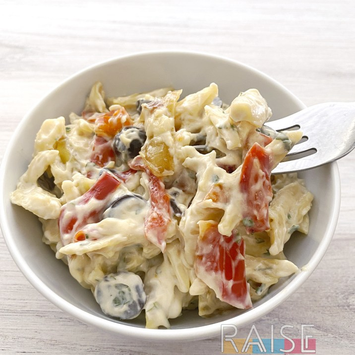 Gluten Free, Dairy Free Pasta Salad by The Allergy Chef