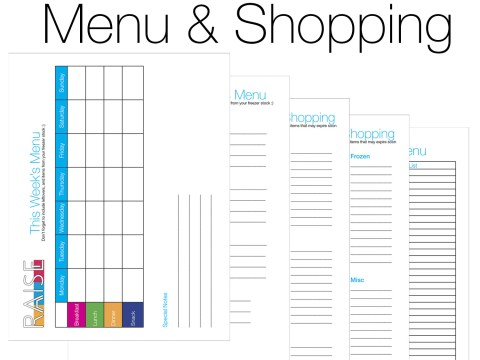 RAISE Blank Menu & Shopping
