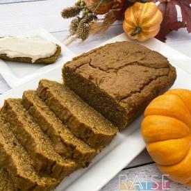 Gluten Free Vegan Pumpkin Bread by The Allergy Chef