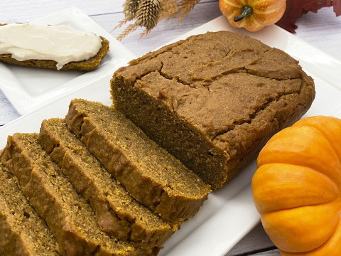 Gluten Free Vegan Pumpkin Bread by The Allergy Chef