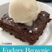 Gluten Free, Dairy Free, Vegan Fudgey Brownie