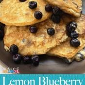 Gluten Free Lemon Blueberry Fluffy Pncakes