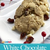 Gluten Free Cranberry White Chocolate Oatmeal Cookies