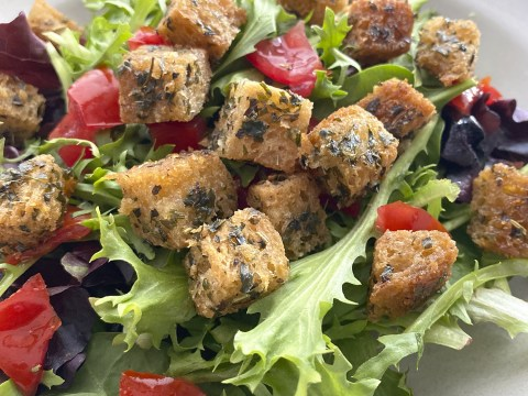 Gluten Free, Vegan, Top 8 Free Croutons by The Allergy Chef