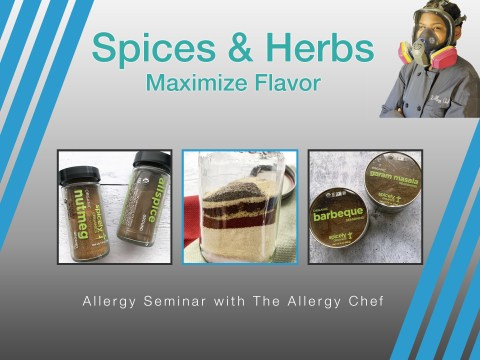 Spices & Herbs Seminar with The Allergy Chef