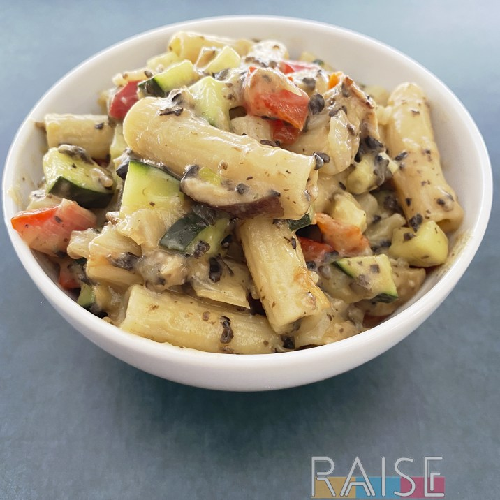 Mayo Free, Gluten Free Vegan Pasta Salad by The Allergy Chef