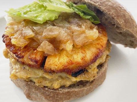 Hawaiian Pineapple Chicken Burger by The Allergy Chef