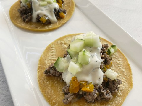 Gluten Free Greek Lamb Tacos by The Allergy Chef