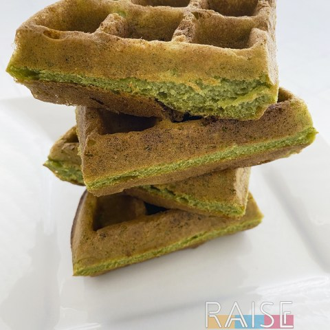 Gluten Free Spinach Waffles by The Allergy Chef