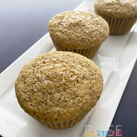 Gluten Free, Egg Free, Top 8 Free Lemon Poppy Muffins by The Allergy Chef